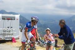 骑自行车者亚历山大Geniez -游览de法国2015年 免版税图库摄影