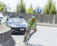 骑自行车者亚历山德罗De马尔希-环法自行车赛2014年 免版税库存照片