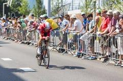 骑自行车者亚当汉森-环法自行车赛2015年 库存图片