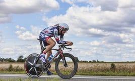 骑自行车者亚当汉森 库存照片