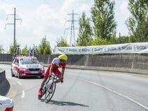 骑自行车者伙伴Mardones -环法自行车赛2014年 免版税库存图片
