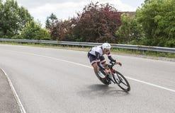 骑自行车者伯特De Backer - Criterium du杜法因呢2017年 库存照片