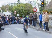 骑自行车者何塞Herrada卢佩茨-巴黎好2016年 免版税库存图片