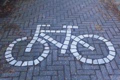 骑自行车者信息标志布鲁日 库存图片