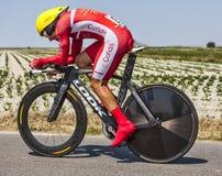 骑自行车者克里斯托夫Le Mevel 库存照片