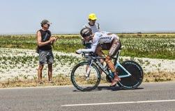 骑自行车者克里斯托夫Riblon 库存图片