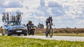 骑自行车者克里斯Sorensen 免版税库存照片