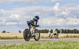 骑自行车者克里斯Sorensen 免版税库存图片