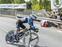 骑自行车者利奥波德Konig -环法自行车赛2014年 免版税库存照片