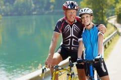 骑自行车者前辈 图库摄影