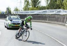骑自行车者史蒂文Kruijswijk -环法自行车赛2014年 库存图片
