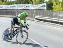 骑自行车者史蒂文Kruijswijk -环法自行车赛2014年 库存照片