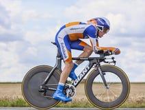 骑自行车者史蒂文Kruijswijk 库存图片
