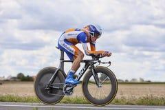 骑自行车者史蒂文Kruijswijk 库存照片