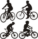 骑自行车者和周期象 库存照片