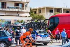 骑自行车者在100th转帐服务d `意大利营业日 免版税库存照片