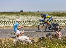 骑自行车者塞尔焦Paulinho 免版税库存照片