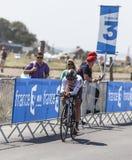 骑自行车者塞缪尔Dumoulin 库存图片