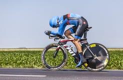 骑自行车者大卫Millar 免版税图库摄影