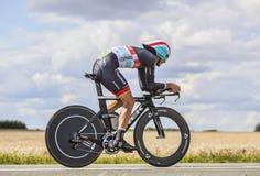 骑自行车者安德烈亚斯Kloden 免版税库存照片