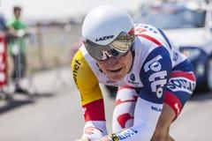 骑自行车者安德烈Greipel 库存图片