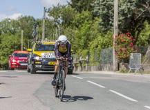 骑自行车者宽容的Stef - Criterium du杜法因呢2017年 库存图片