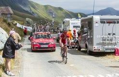 骑自行车者尼古拉斯Edet -游览de法国2015年 库存照片