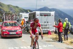 骑自行车者尼古拉斯Edet -游览de法国2015年 库存图片