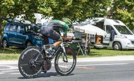 骑自行车者布莱恩Coquard 库存照片