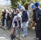 骑自行车者弗兰克Schleck -巴黎好2016年 免版税库存照片