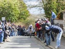 骑自行车者弗兰克Schleck -巴黎好2016年 免版税库存图片