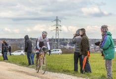 骑自行车者弗兰克Schleck -巴黎好2016年 库存图片