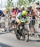 骑自行车者彼得萨根-环法自行车赛2015年 免版税图库摄影