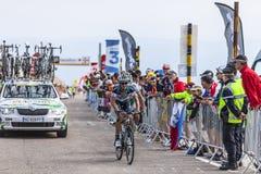 骑自行车者彼得Velits 库存图片