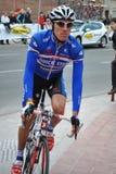 骑自行车者意大利matteo tosatto 库存照片