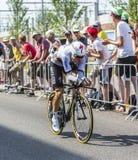 骑自行车者托尼马丁-环法自行车赛2015年 免版税库存照片