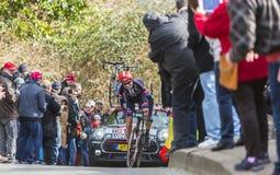 骑自行车者托拜厄斯Ludvigsson -巴黎好2016年 库存照片