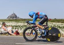 骑自行车者托马斯丹尼尔森 免版税库存图片