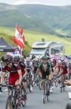 骑自行车者托马斯Voeckler -环法自行车赛2014年 库存图片