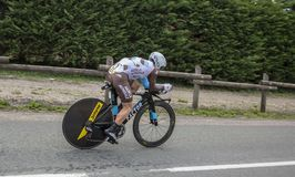 骑自行车者撒母耳Dumoulin - Criterium du杜法因呢2017年 库存图片