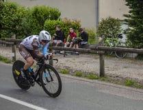 骑自行车者撒母耳Dumoulin - Criterium du杜法因呢2017年 免版税库存图片