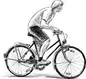 骑自行车者斋戒 免版税库存图片