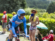 骑自行车者本杰明国王-环法自行车赛2014年 免版税库存照片