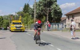 骑自行车者本杰明Swift- Criterium du杜法因呢2017年 库存图片