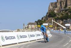骑自行车者杰克・鲍尔 库存照片