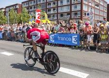 骑自行车者杰弗里Soupe -环法自行车赛2015年 免版税库存图片