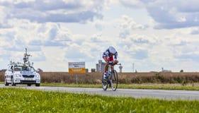骑自行车者杰莱Vanendert 库存照片