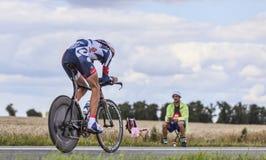 骑自行车者杰莱Vanendert 免版税库存照片