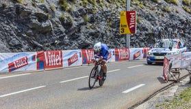 骑自行车者杰里米罗伊 免版税库存照片