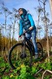 骑自行车者极端骑马 免版税库存图片